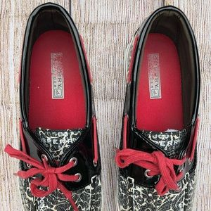 Sperry Shoes - Sperry Top-Sider | Sequin Shoe | Black, White, Red